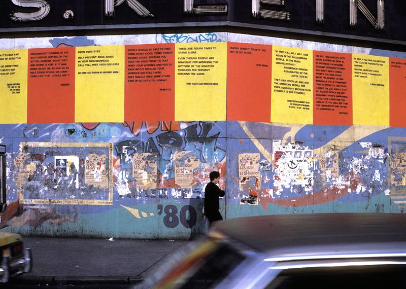 DA ZI BAOS  Union Square, NY. Installed April 1982