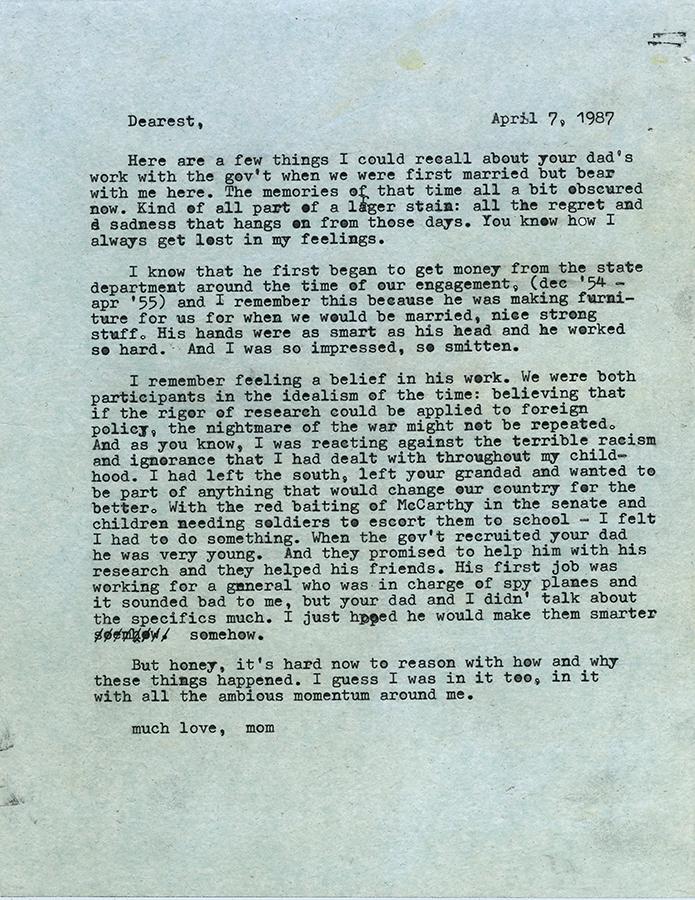 Letter no.2 (April 7th, 1987)