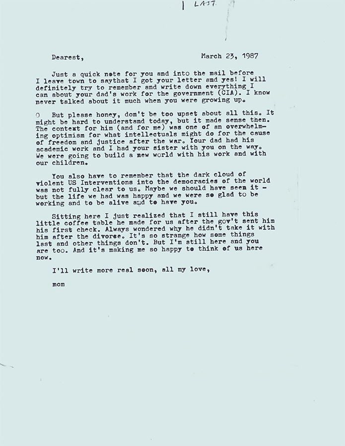 Letter no.1 (March 23rd, 1987)