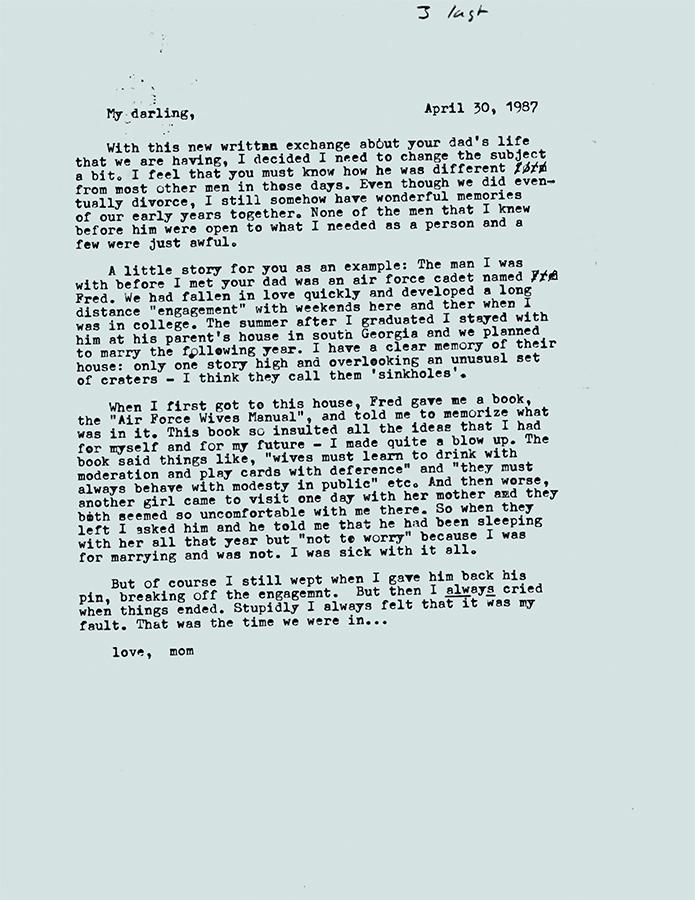 Letter no.3 (April 30th, 1987)