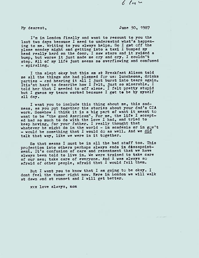 Letter no.6 (June 30, 1987)